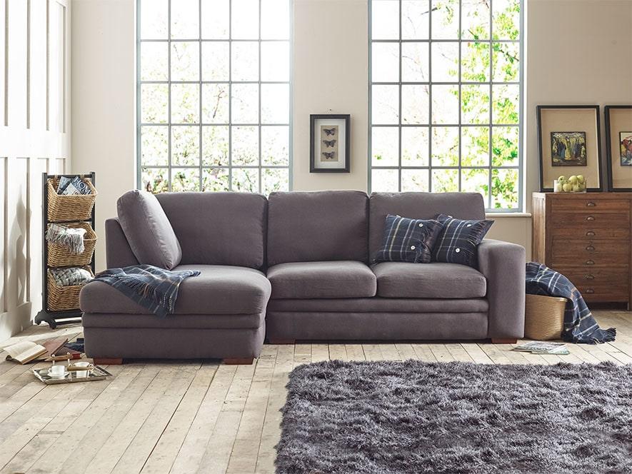 Abbey Fabric Corner Chaise Sofa