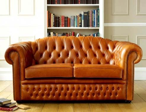 Ashford Leather Buttoned Sofa