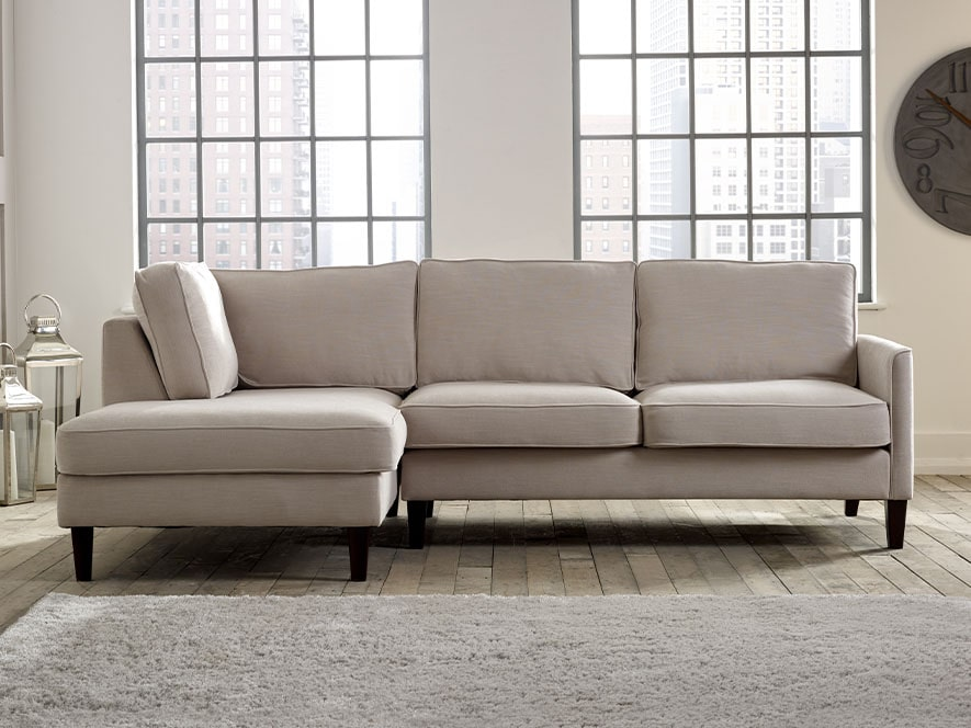 Columbus Fabric Corner Chaise Sofa
