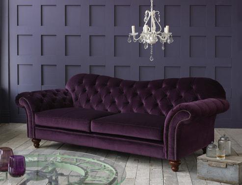 Crompton Vintage Fabric Sofa