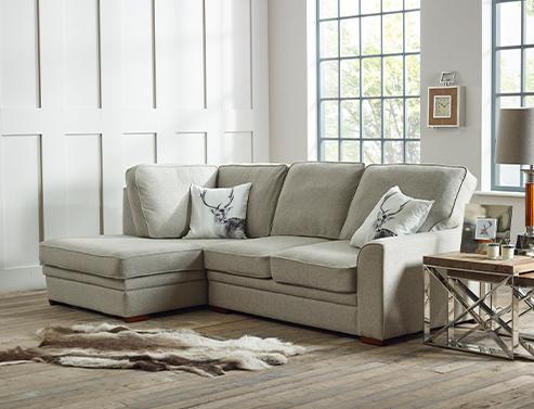 Liberty Fabric Corner Chaise Sofa