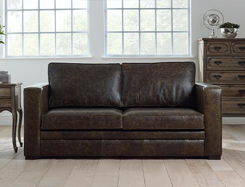 Trafalgar Leather Sofa Bed