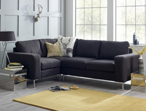 Wellington Charcoal Corner Sofa