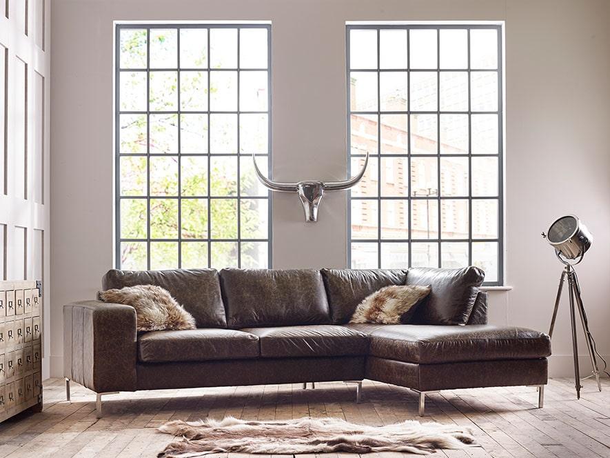 Wellington Leather Corner Chaise