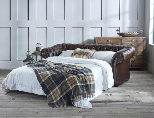 Pemberton Leather Sofa Bed