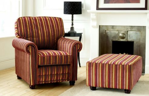 Macy Large Fabric Footstool