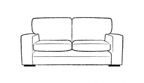 Abbey Fabric Lounge Sofa 3 Seater