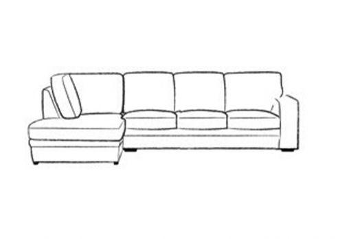 Abbey Fabric 4 x Chaise Sofa