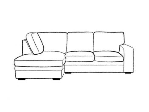 Abbey Fabric 2.5 x Chaise Sofa