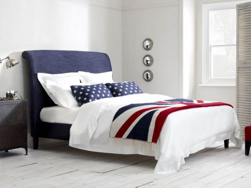 Keats Traditional Upholstered Bed