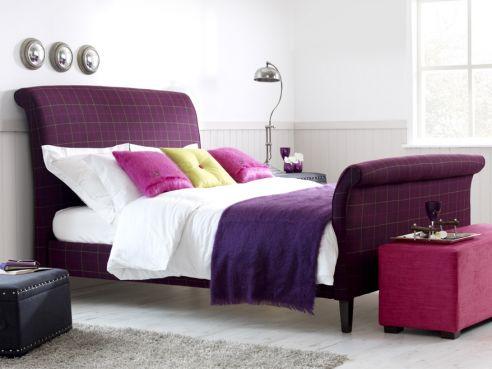 Ruskin Upholstered Sleigh Bed